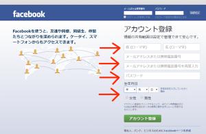 Facebookのアカウント取得方法